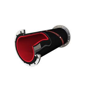 tubería rígida de transporte / para minas y canteras / de caucho / a prueba de abrasión
