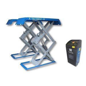 puente elevador de doble tijera