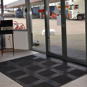 alfombra antisuciedad / de caucho / modular / para zona de tráfico intenso