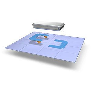 cinta adhesiva doble cara / de película / reforzada
