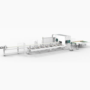 línea de corte para aluminio / de hoja rotativa / de perfiles / CNC