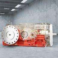 motorreductor de engranajes cónicos / de engranaje helicoidal / de 2 etapas / de 4 etapas