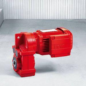 motorreductor de engranaje helicoidal / de ejes paralelos / pendular / patas