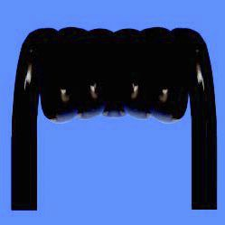 cable eléctrico en espiral / de alimentación / con funda de PVC / con funda de PUR