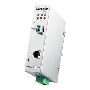 conmutador convertidor conversor de medios / no administrable / 2 puertos / de fibras ópticas