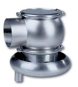 válvula de mariposa / para alimentos líquidos y bebidas / de vacío / impelente
