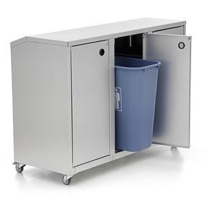 contenedor de basura de aluminio / para residuos domésticos / para residuos urbanos / para residuos médicos