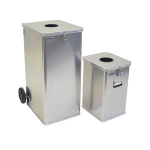 contenedor de basura de aluminio