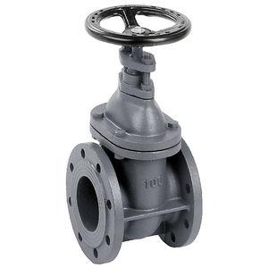 válvula de compuerta / con volante / de brida / de hierro fundido