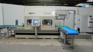 desbarbadora de estantería de ángulos / rectificadora / de acabado / máquina pulidora