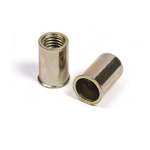 tuerca autoinsertable remachable / cilíndrica / de metal / de cabeza avellanada