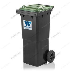 contenedor de residuos de PEAD / para residuos urbanos / para reciclaje / con 2 ruedas