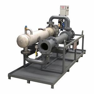 intercambiador de calor de coraza y tubos / líquido-gas / de acero inoxidable / de acero