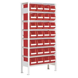 sistema de estanterías de taller / para cajas / con tablas