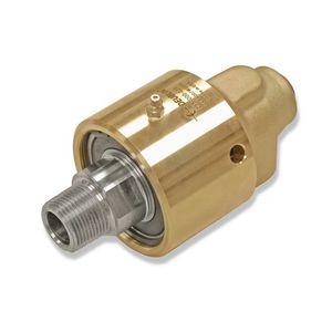 racor giratorio para agua / para aceite caliente / para vapor / de latón