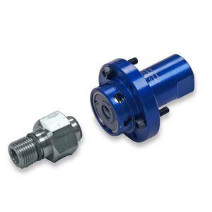 racor giratorio para fluido refrigerante / de transferencia / de aluminio / de rosca