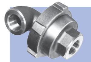 racor de rosca / codo de 90º / hidráulico / libremente orientable