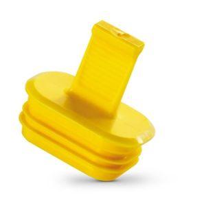 tapón aletado / macho / de plástico