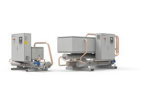 refrigerador de agua / para compresor de tornillo / de alta eficacia