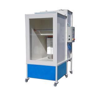 cabina de empolvado cartucho filtrante / con filtro autolimpiante / manual / electrostática