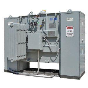 transformador de potencia / sumergido / de pie / de subestación