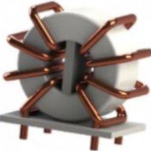 inductancia de alambre bobinado