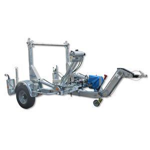 remolque de 1 eje / de transporte y tendido de tubos / portabobina / hidráulico