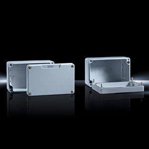 caja de aluminio fundido / de tamaño pequeño / rectangular / de aluminio lacado