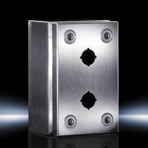 caja para interruptores / de tamaño pequeño / rectangular / de acero inoxidable