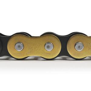 cadena de transmisión de potencia / de acero / de acero zincado / de rodillos