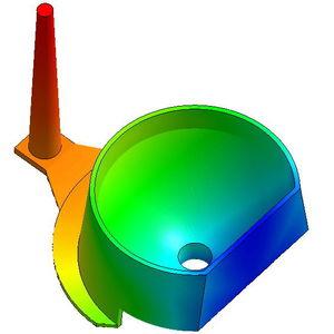 software de simulación de moldeo por inyección / de proceso / del proceso de inyección de plástico