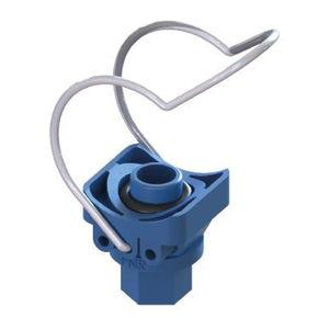 abrazadera para tubo de polipropileno / de acero inoxidable