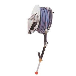 enrollador de tubo de limpieza / manual / fijo / de acero inoxidable