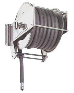 enrollador de tubo de limpieza / retráctil / fijo / de acero inoxidable