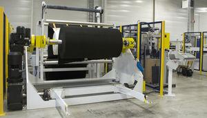 máquina de desenrollamiento de tejidos