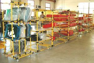 sistema de estanterías depósito de almacenamiento / para carga ligera / modular