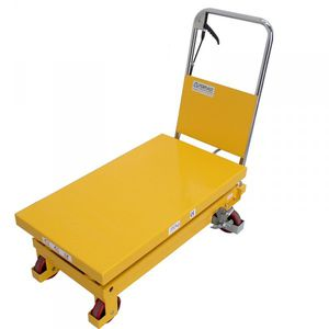 mesa elevadora de doble tijera / manual / de pedal / móvil