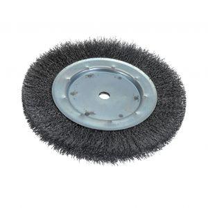 cepillo circular / de limpieza / de hilo metálico / ondulado