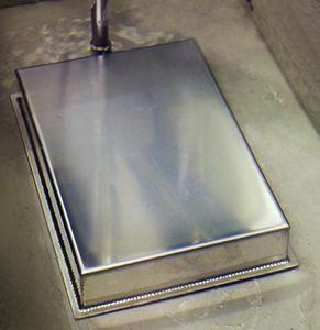 transductor de ultrasonidos de placa / sumergible / con barrido de frecuencia / de limpieza