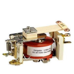 relé electromecánico DC / 1NA / 1NC / monoestable