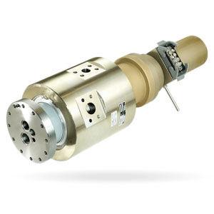 racor giratorio para fluido refrigerante / para máquina herramienta / compacto / de alta velocidad