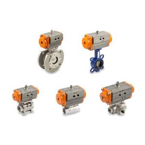válvula con actuador / de mariposa / neumática / de control