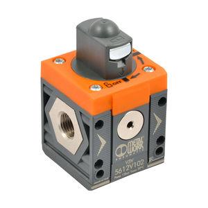 válvula manual / electroneumática / con control neumático / de cierre