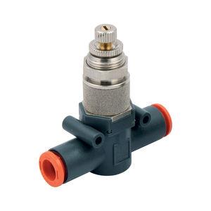 válvula de escape rápido / de aguja / de control / para aire comprimido