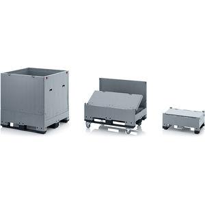 caja-palé de plástico / de transporte pesado / para productos alimentarios / plegable