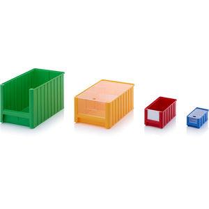 caja de almacenaje a la vista de plástico