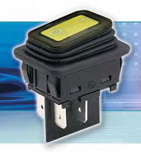 Interruptor bipolar luminoso resistente al agua IP 65
