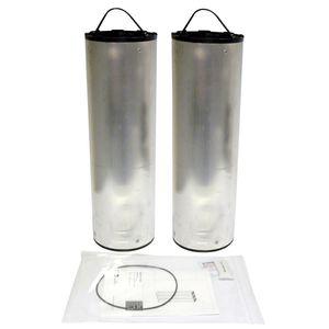 cartucho filtrante de aire / de carbón activado / de metal / de alto rendimiento