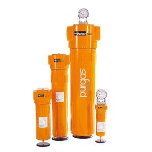 filtro de gas / de cartucho / de profundidad / aluminio