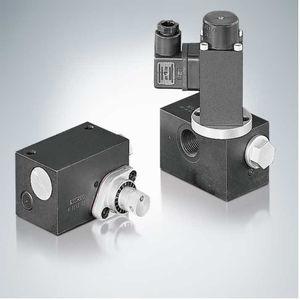 válvula con control hidráulico / de control de caudal / para aceite / para manipulación de precisión